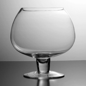 Brandy Snifter Clear Glass Vase - 9.5in x 8.5in