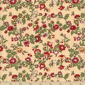 Bread and Butter Holiday Vine Cotton Fabric - Cream Q1803-98489-273 - CLEARANCE