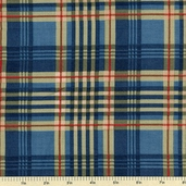 Bread and Butter Plaid Cotton Fabric - Blue