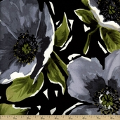 Breezy Cotton Fabric - Black BREE #330-S