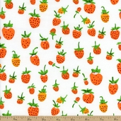 Briar Rose Strawberries Cotton Fabric
