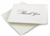 Bridal Collection - Silver Thank You Cards - 25pc
