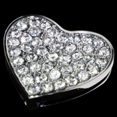 Bridal Collection - Solid Heart Rhinestone Buckle