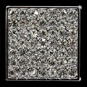 Bridal Collection - Solid Square Rhinestone Buckle