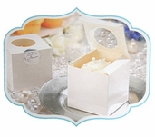 Bridal Collection - Swiss Dot Cupcake Boxes with Seals -12pc