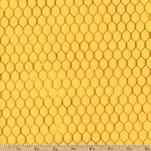 Bright and Early Chicken Wire Texture Cotton Fabric - Orange