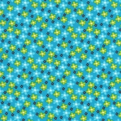 Bright Owl Cotton Fabric - Blue