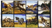 Bringing Nature Home Animal Panel Cotton Fabric - Wild