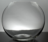 Bubble Bowl Vase 10in Set of 2 - Clear Glass