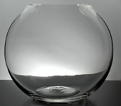 Bubble Bowl Vase 8in - Clear Glass