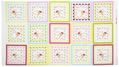 Bubblegum Basics Panel Cotton Fabric - White 2901-2W - CLEARANCE