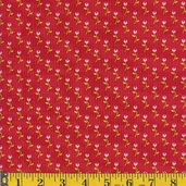 Bubblegum Basics Summer fabric - Red - CLEARANCE
