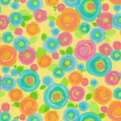 Bubblegum Flannel Fabric - Yellow
