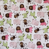 Buddies Cuddle Toss Polyester Minky Fabric - Pink