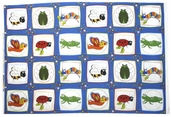 Bug a Boo Cotton Fabric - Bug Block Panel - Multi