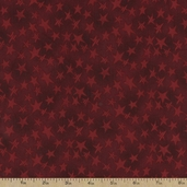 Buggy Barn Basics Cotton Fabric - Stars Red