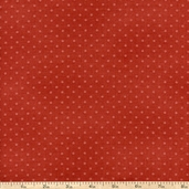 Buggy Barn Basics Polka Dot Cotton Fabric - Brick
