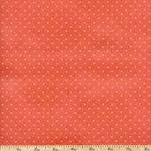 Buggy Barn Basics Polka Dot Cotton Fabric - Coral