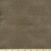 Buggy Barn Basics Polka Dot Cotton Fabric - Grey