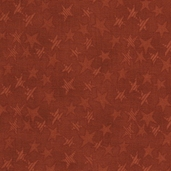 Buggy Barn Basics Cotton Fabric - Stars Rust