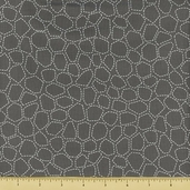Bundle of Jungle Cotton Fabric - Shapes - Grey