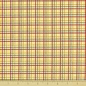 Bungle Jungle Cotton Fabric - Plaid - Multi-Color