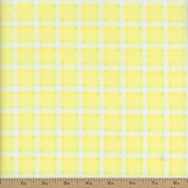 Bunny Hop Flannel Soft Plaid Fabric - Lemon