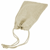 Burlap Bags Drawstring 5in. x 7in. - White - Pkg. of 12