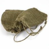 Burlap Bags Drawstring Closure - 7 x 5 and 8 x 7 inch 2 Pack