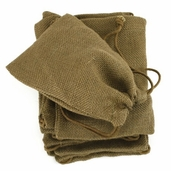 Burlap Bags Drawstrings 5x 7 in Moss Green - 12 bags