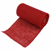 Burlap Fabric 9in. x 10yds. - Red