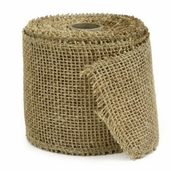 Burlap Ribbon 4 in. 10yds spool