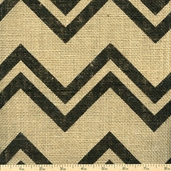 Burlap Step Angles Fabric - Black