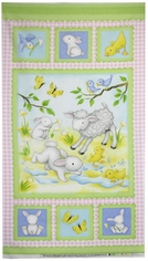 Buttercup Babies Flannel Fabric Panel - Pink 5885-22