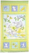 Buttercup Babies Flannel Fabric Panel - Yellow 5885-44