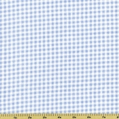 Buttercup Babies Gingham Flannel Fabric - Light Blue 5888-11
