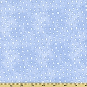 Buttercup Babies Stars Flannel Fabric - Light Blue 5890-11