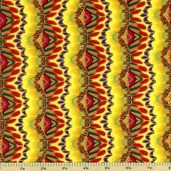 Butterfly Carnival Stripe Cotton Fabric - Multi