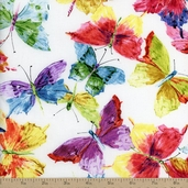 Butterfly Effect Small Butterflies Cotton Fabric - Multi