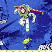 Buzz in Action Cotton Fabric - Dark Blue CP-40926-16007-15