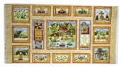 Cabin by the Lake Cotton Fabric - Panel - Multi