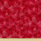 Cabin by the Lake Cotton Fabric - Vines - Deep Pink - Clearance