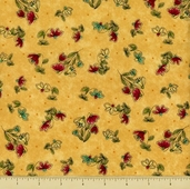 Cabin by the Lake Cotton Fabric - Wildflowers - Gold