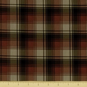 Cabin Fever Cotton Fabric - Plaid - Khaki