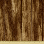 Cabin Fever Cotton Fabric - Wood Grain - Wood