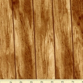 Cabin Fever Flannel Fabric Wood Grain