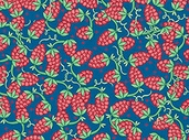 Caf Europa Cotton Fabric - Blue