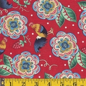 Caf Europa Cotton Fabric - Red