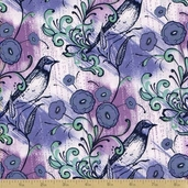 Caiman Cotton Fabric - Periwinkle Okapi