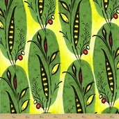 Caiman Cotton Fabric - Tropical Banana Leaf